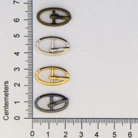 Small-Oval Metal Doll Buckles 3.5mm to 4mm Belts or Straps
