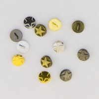 Metal Star Buttons 5mm