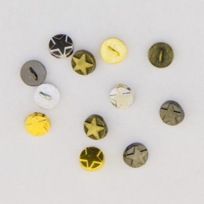 Metal Star Buttons 5mm