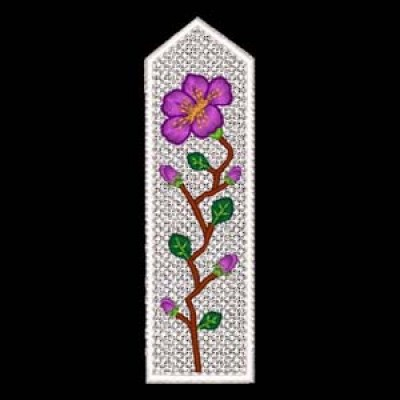 Floral Bookmarks Machine Embroidery Design