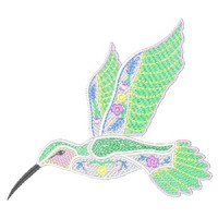 Humming Birds Garden Machine Embroidery Design