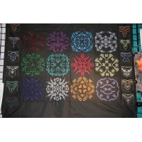 Birth Gems Embroidery Design