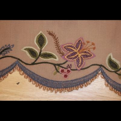 Floral Crewel Machine Embroidery Design