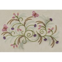 Brazilian Floral Machine Embroidery Design