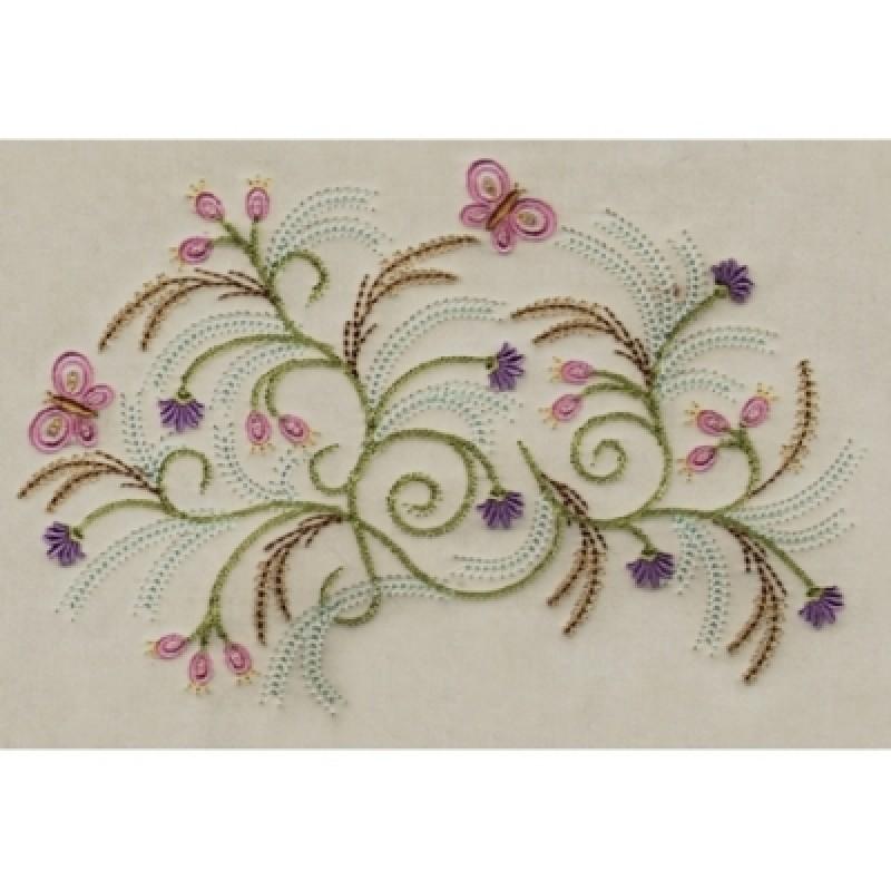 Brazilian Floral Machine Embroidery Design
