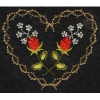 Roses & Thornes Machine Embroidery Design