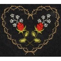 Roses & Thornes Machine Embroidery Design