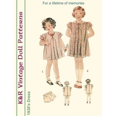 KRVP-1706 1930's Dress PATTERN