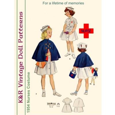 KRVP-1895 1954 Nurses Costume PATTERN