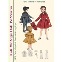 KRVP-4024 1950's Coat, Capelet, Hat & Leggings PATTERN