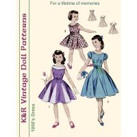 KRVP-8538 1950's Dress PATTERN